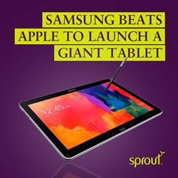 Samsung Beats Apple to Launch a Giant Tablet