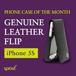 Phone case of the month - iPhone 5S Genuine Leather Flip