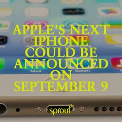 Apple's next iPhone could be announced on September 9