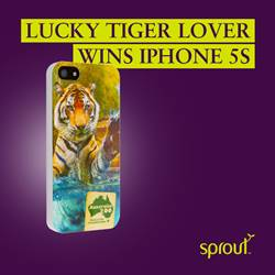 Lucky Tiger Lover Wins iPhone 5S