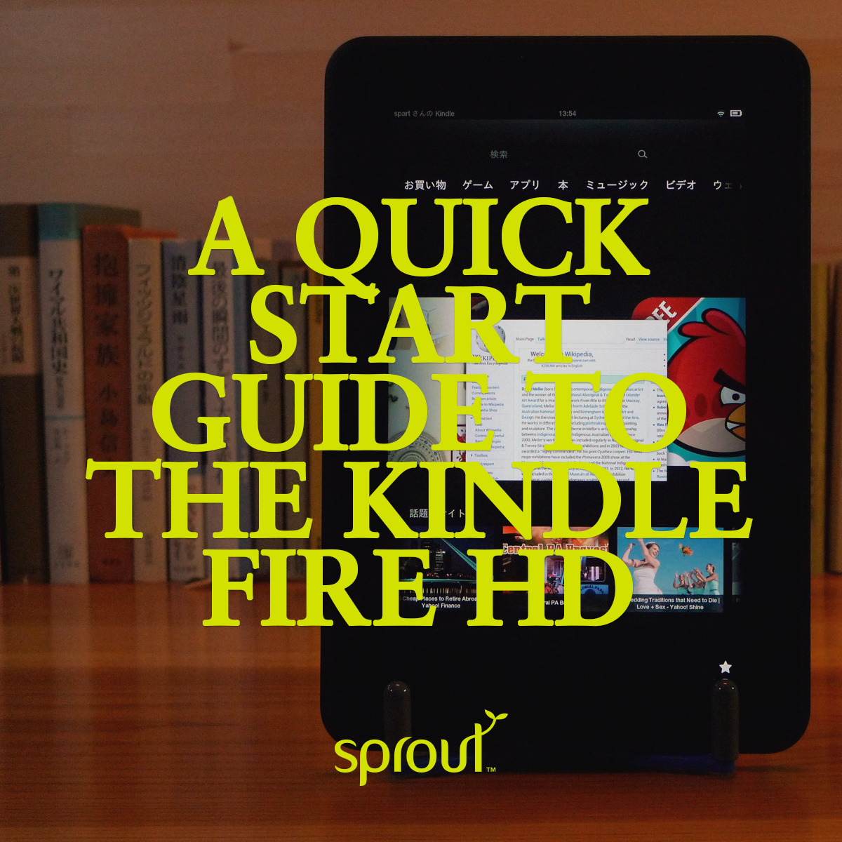 a quick start guide to the kindle fire hd sprout accessories online rh sproutinc com au Windows 8 Quick Start Guide Quick Start Guide Template